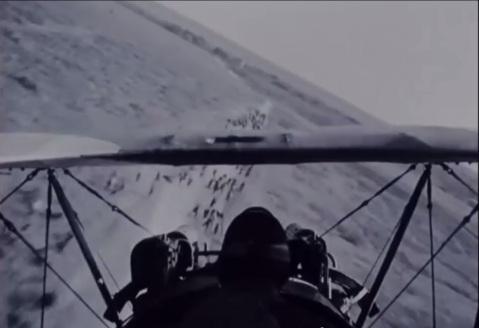 Wings aerial view soldiers