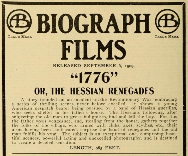 Hessian Renegades ad Mov Pic World Sept. '09