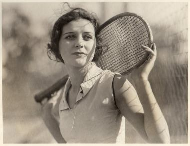 Marceline Day tennis racket