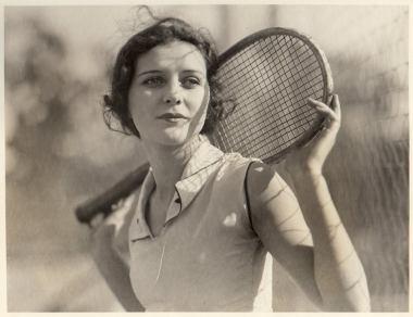 Marceline Day tennis racket
