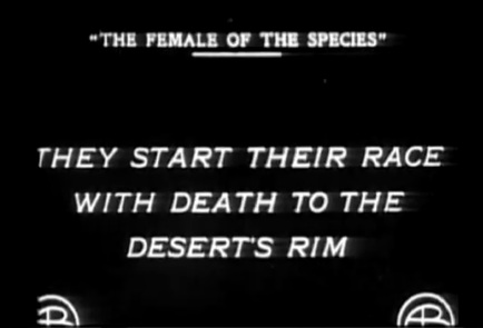 Female Species race with death titlecard