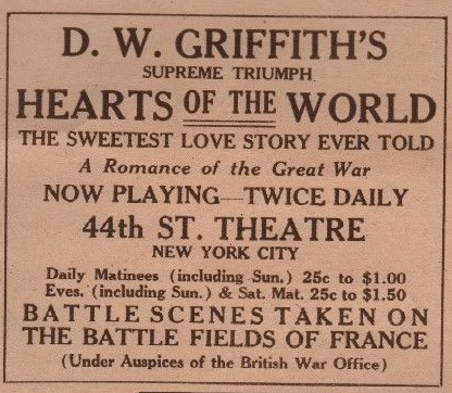 Hearts of the World Print ad