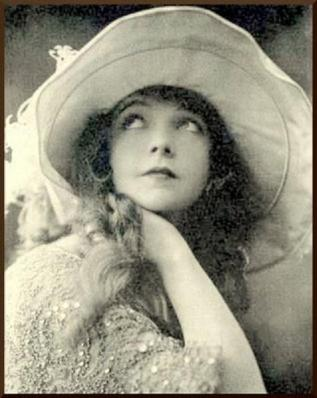 Lillian Gish portrait hat looking up