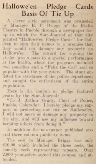 Halloween pledge cards mot pic news '25