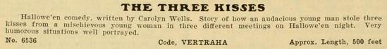 The Three Kisses 1909