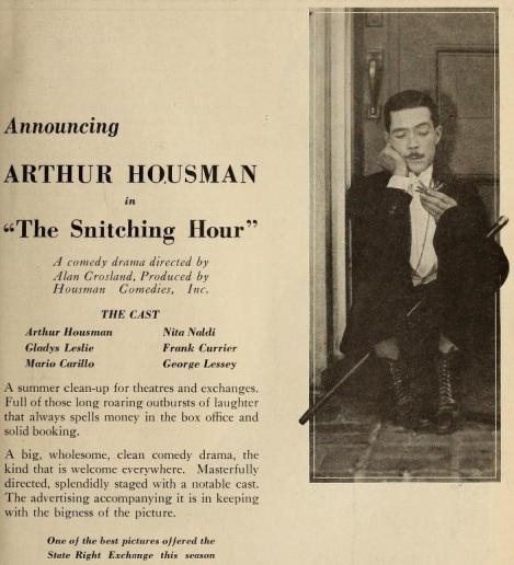 Arthur Housman the snitching hour exhib trade rev '22