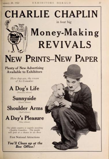 Chaplin revivals exh herald Jan 28 '22