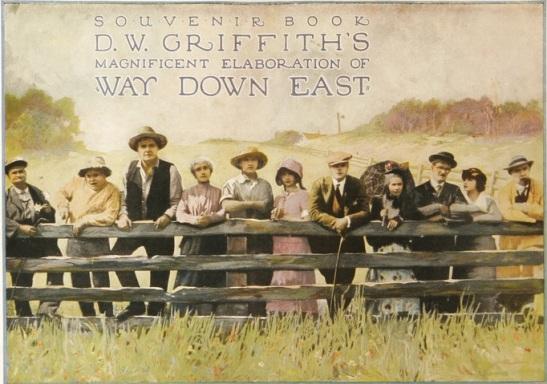 Way Down East souvenir book cover