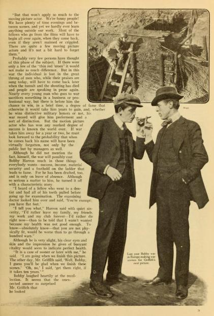 A page from Photoplay article