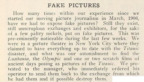 Titanic fake films mov pic news '12