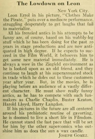 letter leon errol Photoplay '26