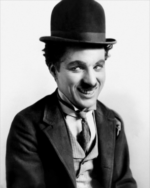 Chaplin portrait smile