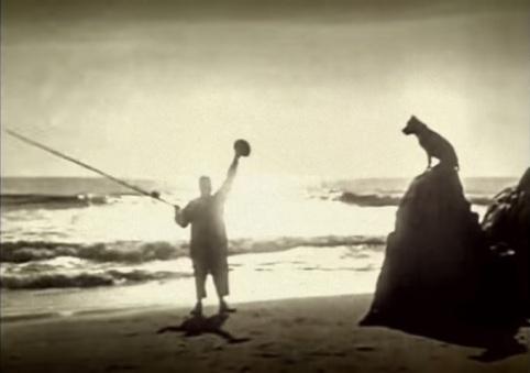 Fatty Mabel Adrift waving roscoe sunset