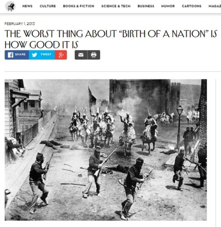 Birth of a Nation new yorker headline