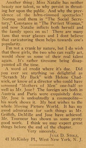 Jules D. White hates talmadges 2 mot pic mag jan. '21