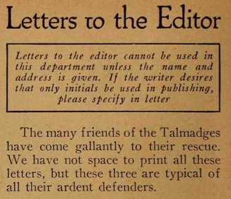Jules D. White letters to the editor mot pic mag May '21