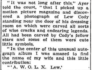 Lew Cody article 3