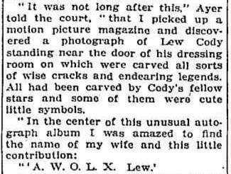 Lew Cody article 3
