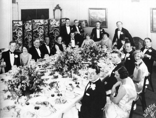 Dinner party full photo