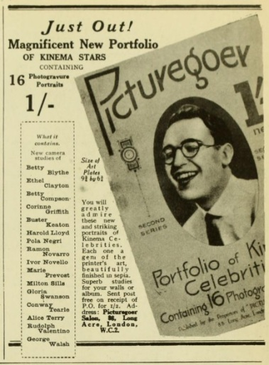 Kinema stars portrait pics and picgoer Sept '24