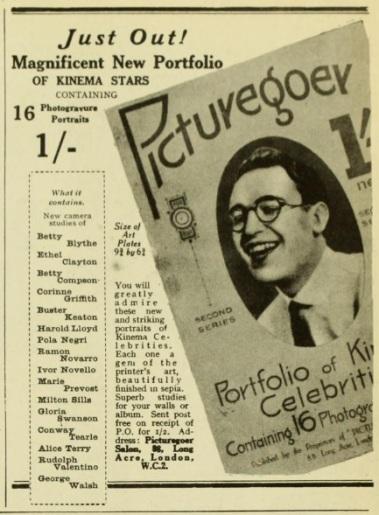 Kinema stars portrait pics and picgoer Sept '24