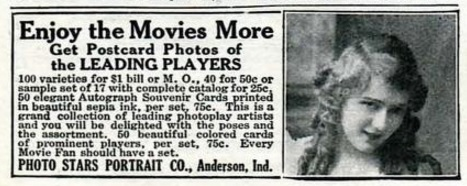 Postcards pickford photoplay April '15