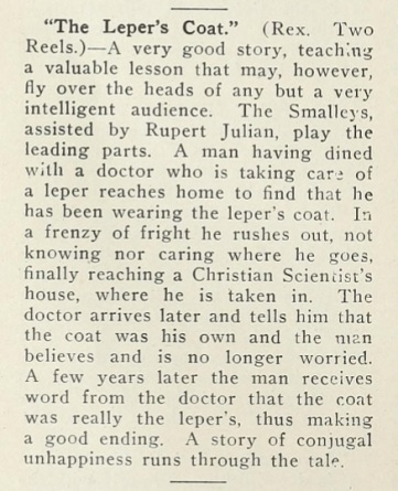 Lois Weber review the leper mot pic news Dec 6 '13