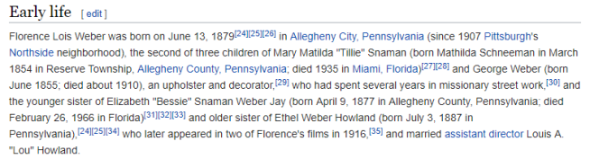 Lois Weber wiki page