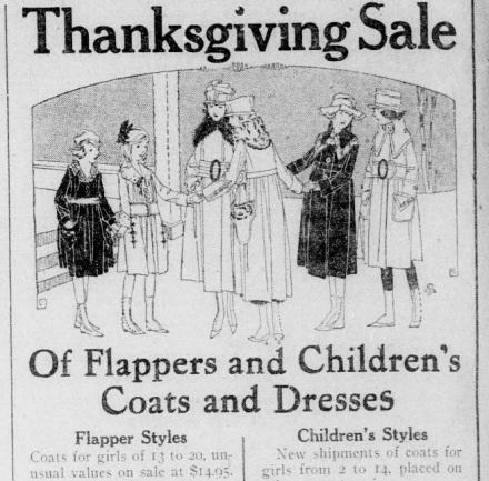 Flapper ad Rock Island Argus Ill Nov 15 '17