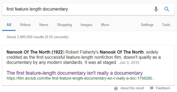 Nanook google search