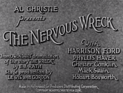 title-the nervous wreck '26