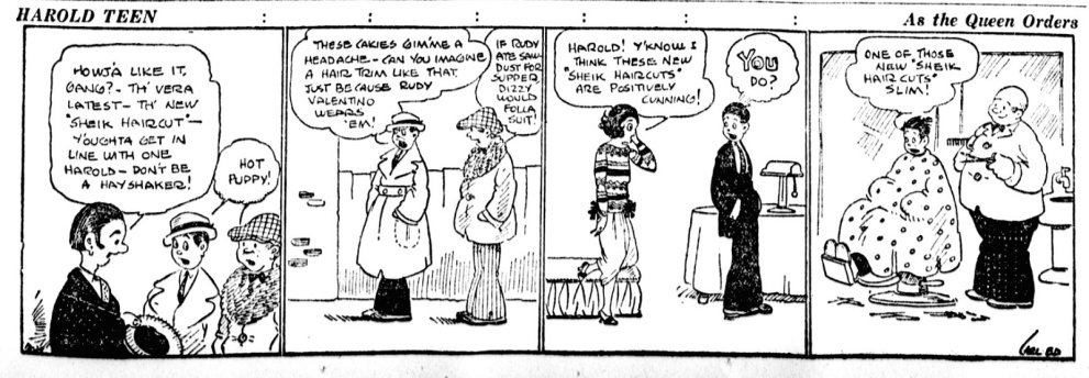 Image result for rudolph valentino comic strip