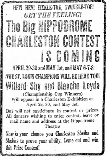Sheiks charleston contest ad The Daily Independent Murphysboro Ill Apr 27 '26
