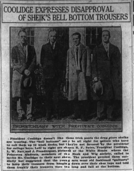Sheiks coolidge disapproves trousers The Montgomery Advertiser AL Feb 26 '25
