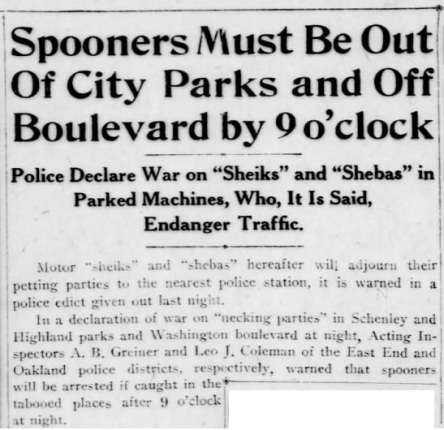 Sheiks no more spooning Pittsburgh Post-Gazette June 5 '24