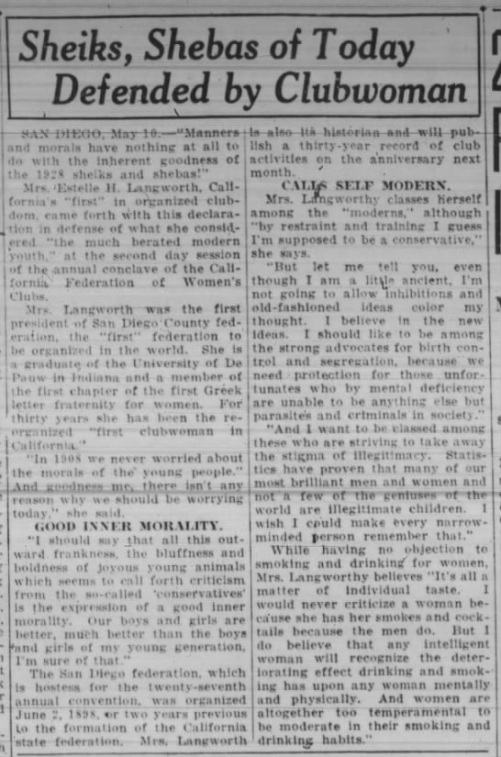 Sheiks shebas not all bad Oakland Tribune May 10 '28