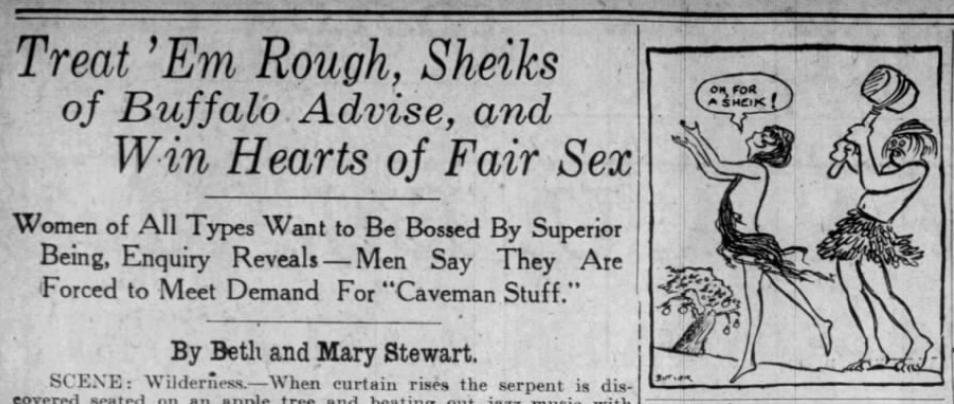 Sheiks treat em rough Buffalo Courier NY Feb 18 '23