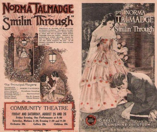 Norma Talmadge SmilinThru ad