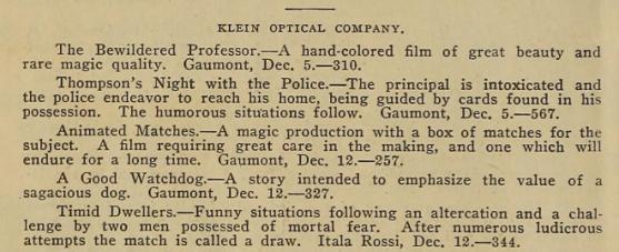 Animated Matches description theNickelo Jan 13 1909