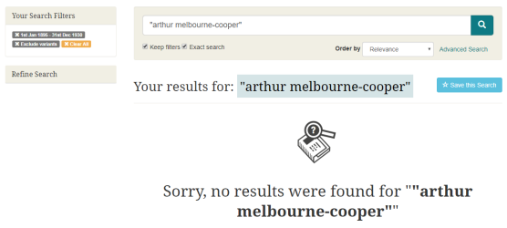Melbourne Cooper bna searc