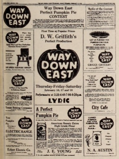 Way Down East pie contest ad ExHer Mar 11 '22