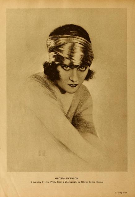 Gloria portrait drawing MotPicClassic June '23