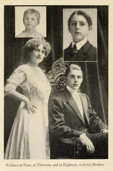 Wallace Reid as boy with mother