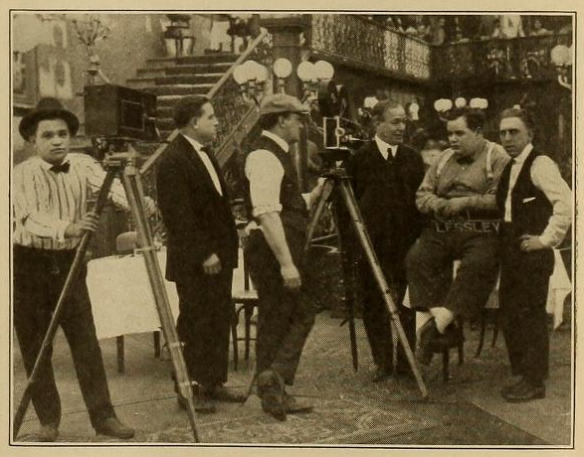 Joe Bordeaux with camera Motography 1916